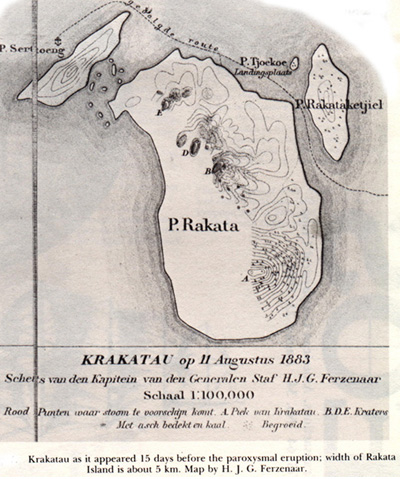 carte de Pulau Rakata