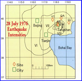 China earthquake of jluly 28 1976 in tangshan by dr george felt reports and intensity of ground motions gumiabroncs Gallery