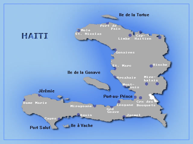 HAITI THE EARTHQUAKE OF JANUARY DR GEORGE PARARAS - Haiti regions map