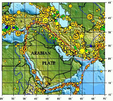 Arabian sea potential of tsunami generation along the makran 5 distribution of earthquake epicenters along the boundaries of the pakistan afghanistan iran and arabian microplates gumiabroncs Gallery