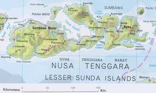 Sumbawa Indonesia  City new picture : Sumbawa Indonesia Map