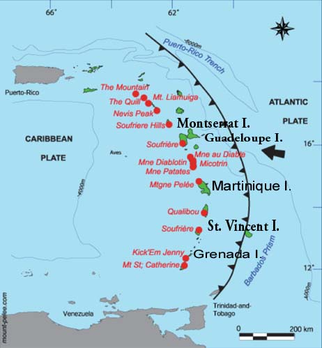 LESSER ANTILLES - Tsunamis of Volcanic Origin in the Lesser ... on in texas map, in asia map, in mexico map, in sweden map, in france map, in georgia map, in germany map, in china map, in usa map, in latin america map,